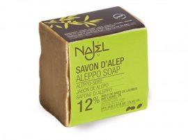 NAJEL- Lúgmentes szíriai olíva színszappan, 12% babérfaolajjal és 88% olívaolajjal. 200 g