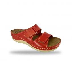 Fratelli Babb Női komfort papucs- piros ( D303- Rosso )