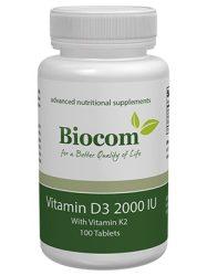 Vitamin D3 2000 IU (K2-vitaminnal) 100 tabletta