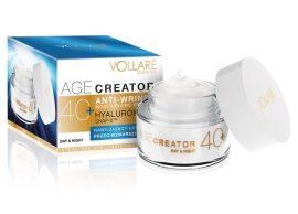 VOLLARÉ-AGE CREATOR 40+ bőrhidratáló és ránctalanító nappali és éjszakai arckrém hyaluronsavval  - 50 ml
