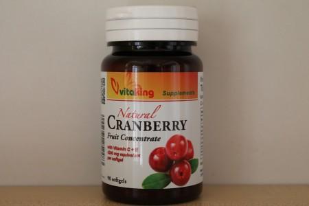 VITAKING - Tőzegáfonya koncentrátum C és E vitaminnal 90 db