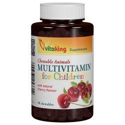 VIVitaking Gyerek Multivitamin meggyes rágótabletta – 90db