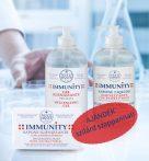 Immunity csomag: 500 ml Kéztisztító gél + 500 ml folyékony szappan + ajándék 150 gr szilárd szappan
