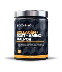Kollagén+Rost+Amino Italpor mangó ízű 450 gramm